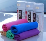 Car cleaner cloth/Chamois with Tube packing