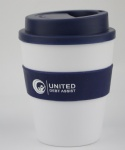 Plastic coffee cup with silicone lid